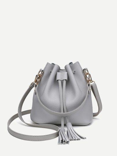 Tassel Decor Bucket Bag Bolsas Femininas Bolsas