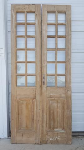 12 Pane Wood And Glass French Doors Antiquities Warehouse Glass French Doors Wooden French Doors Antique French Doors