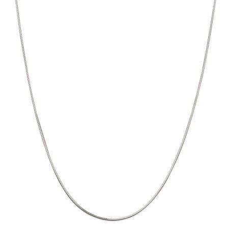 Sterling Silver Womens 1mm Box Chain Grandma Message Pendant Necklace