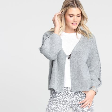 Gray Cutout Open Front Sweater by World Market