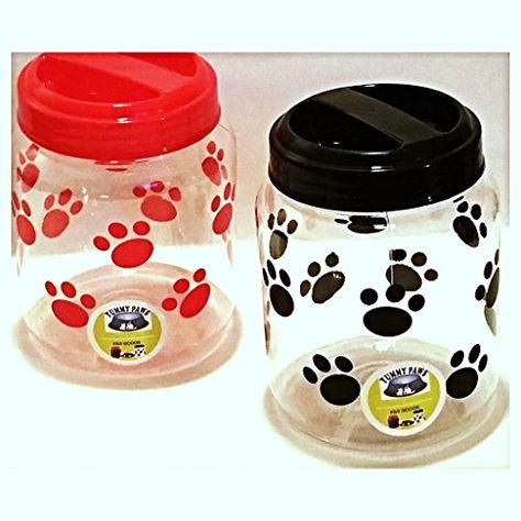 Yummy Paws 44 Cup Plastic Airtight Pet Treat And Food Canister