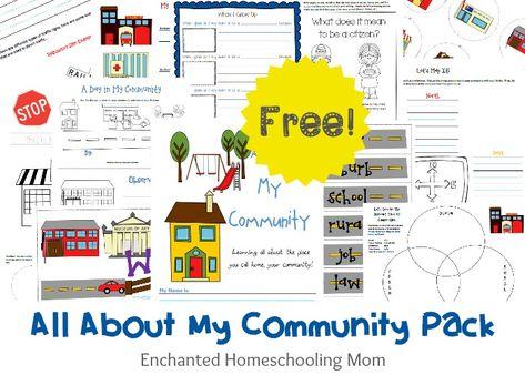 My Community Resource Pack - Enchanted Homeschooling Mom