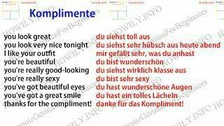 Schönsten komplimente englisch die auf Wie man