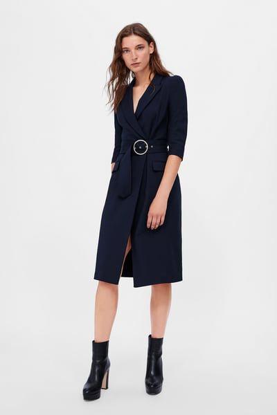 Imagen 1 de VESTIDO BLAZER CINTURÓN de Zara | Zara moda
