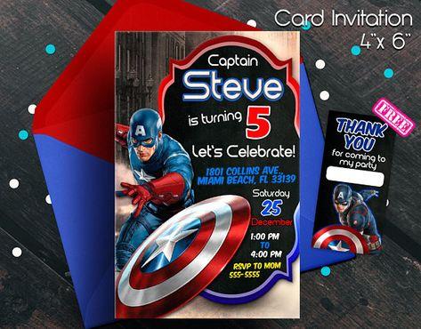 Captain America Invitation Capitan America Captain America