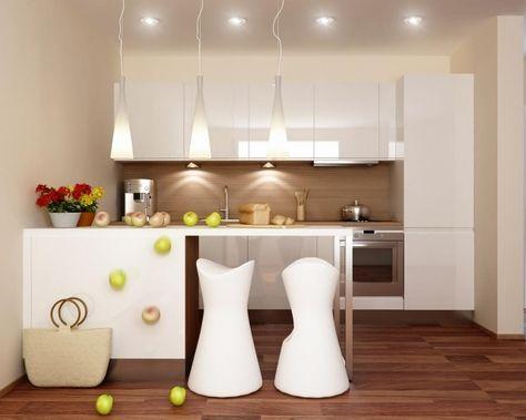 küche farben ideen magnolia wandfarbe holzboden spritzschutz ...