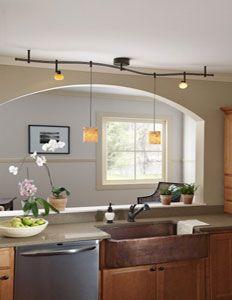 Pendant Lighting Track System For Kitchen Island Design Ideas