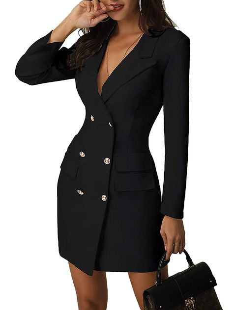 Blazer Dress, Dress Suits, Office Dresses For Women, Clothes For Women, Ladies Dresses, Work Dresses, Maxi Dresses, Elegant Woman, Office Fashion