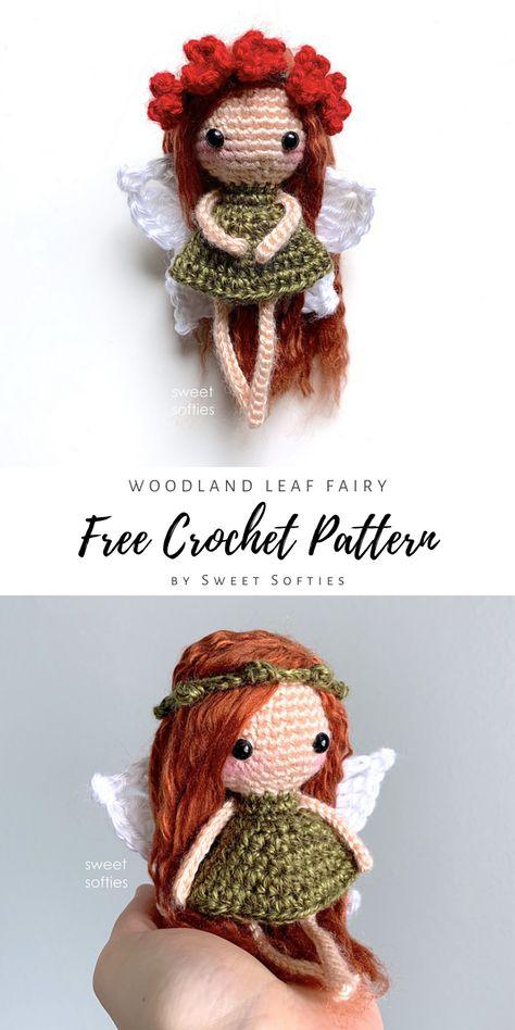 Doll Amigurumi Free Pattern, Pattern Cute, Crochet Dolls Free Patterns, Crochet Amigurumi Free Patterns, Amigurumi Doll, Free Christmas Crochet Patterns, Crochet Simple, Cute Crochet, Crochet Bear