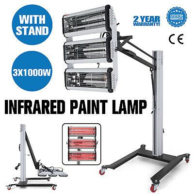 Set 2 Set 3000W 110V Spray//Baking Booth Infrared Paint Curing Heater Lamp Ship