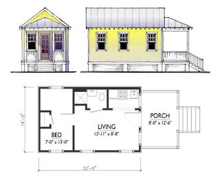 charming tiny cottage plan by marianne cusato 400sft 1 bedroom 1 rh pinterest com small cottages to build australia small inexpensive cottages to build