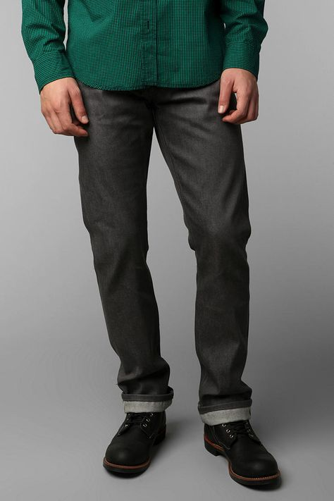 Unbranded Grey Selvedge Straight Jean