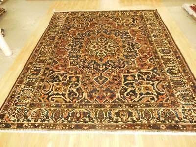 Vintage 10x13 Bakhtiari Semi Antique Wool Hand Knotted Persian