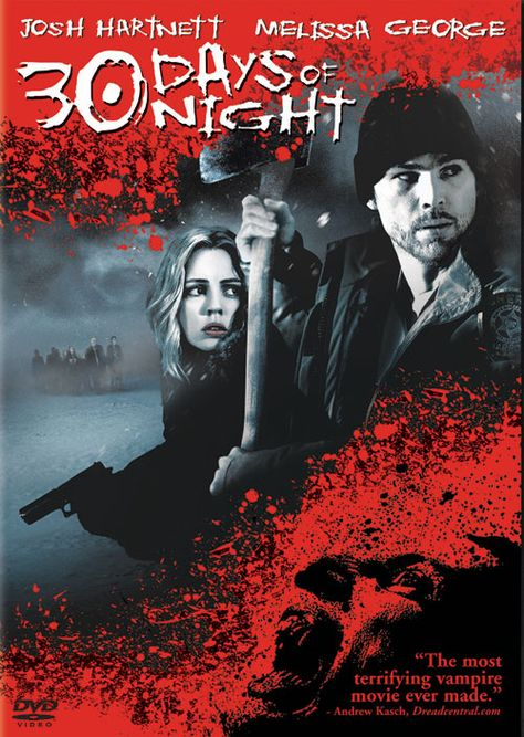30 Days of Night (2007) is a very good movie featuring an army of the undead who take over an Alaskan town during the 30 day winter period without sunlight.  Cut off from civilisation, the humans must fight for survival.