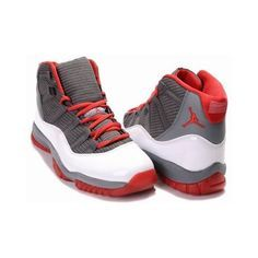 Shop Authentic Nike Air Jordan 11 XI Retro - Charcoal Grey Varsity Red  White Contrast 0aad160a4