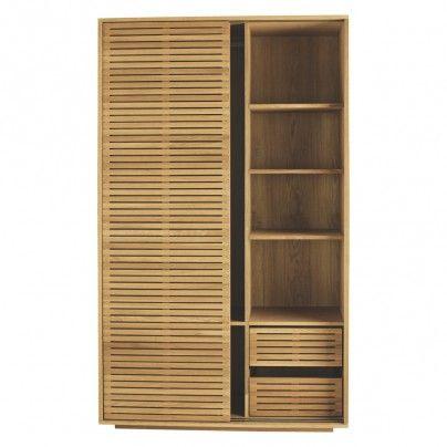 Max Oiled Oak Sliding 2 Door Wardrobe With Shelves Sliding Wardrobe Wardrobe Furniture Glass Barn Doors Interior