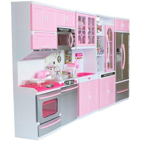Battery Operated 12 Tall Large Luxurious Toy Kitchen Playset 11 12 Tall Dolls Sounds Parts Light Up Perfect Doll House Accessory Walmart Com Toy Kitchen Home Accessories Playset