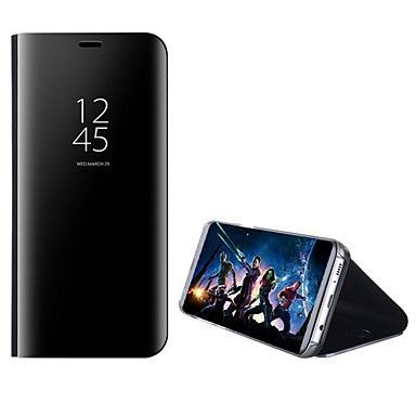 14 99 Hulle Fur Samsung Galaxy A5 2018 Galaxy A7 2018 A3 2017 Mit Halterung Spiegel Flipbare Hulle Ganzkorper Gehause Solide Hart Pc Flip Phone Case Iphone Cases Iphone