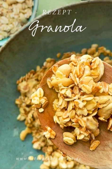 Granola mit Cashews - Ein Grundrezept und ein paar Ideen