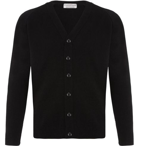 MENS PLAIN CLASSIC BLACK CARDIGAN JUMPER FITTED BUTTON UP VNECK SLIM SWEATER