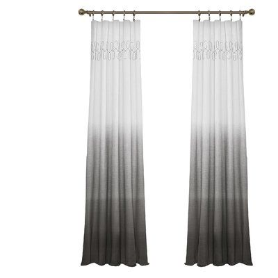 Arashi Solid Sheer Rod Pocket Single Curtain Panel Curtains