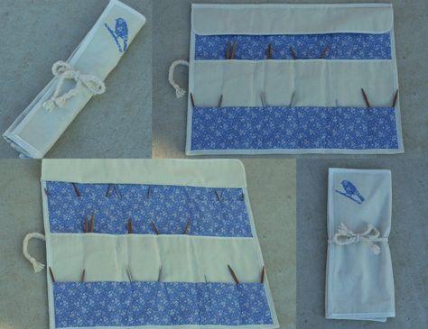 Free Pattern Circular Knitting Needle Case Sewing Pinterest