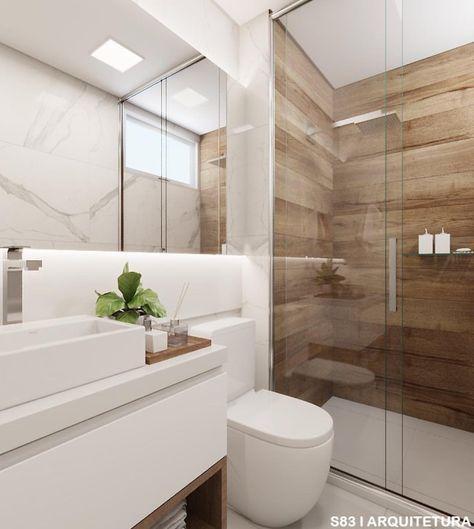 Banheiro Social Com Direito A Marmorizado E Revestimento Imitando