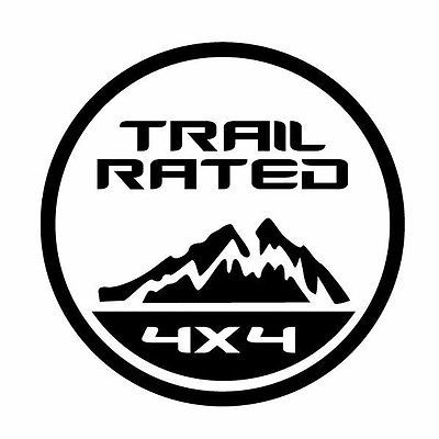 Jeep Trail Rated Decal 4x4 Suv Jdm Car Window Laptop Vinyl