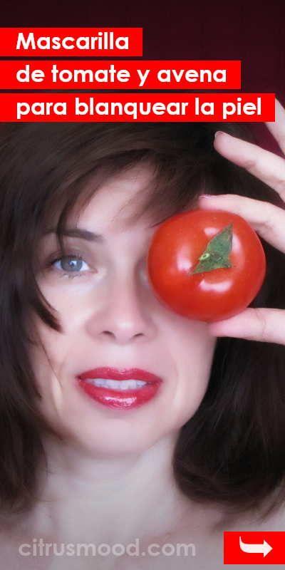 Mascarilla tomate acne