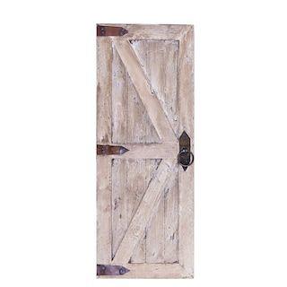 Wood Farmhouse Door Wall Decor 2 Piece Set Kohls In 2020 Barn Door Decor Shutter Wall Decor White Wash Walls