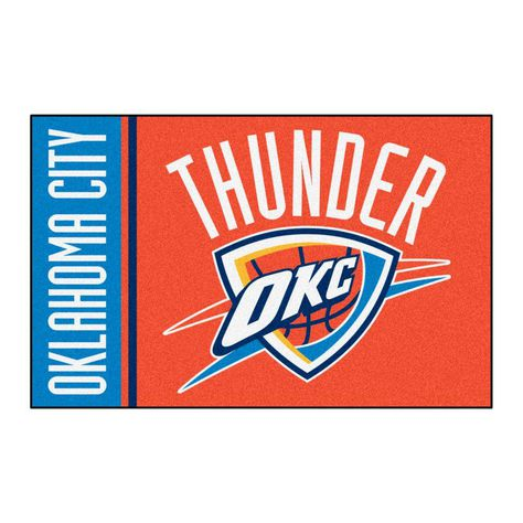 NBA Oklahoma City Thunder Navy Blue 1 ft. 7 in. x 2 ft. 6 in. Accent Rug