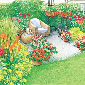 Gartenecke Mit Sitzplatz Gartenecke Garten Garten Landschaftsbau