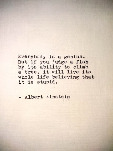 """Custom Quote Einstein Handtyped Typewriter Art Print - 5x7"""" - Hand Typed Quote - Framed Quote -  #typewriter #handtyped #vintage #antique #tinyart #homedecor #framedquote"""