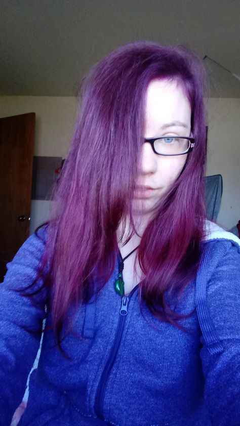 Manic Panic Plum Passion And Vampire Red Over Virgin Hair Color  Hair