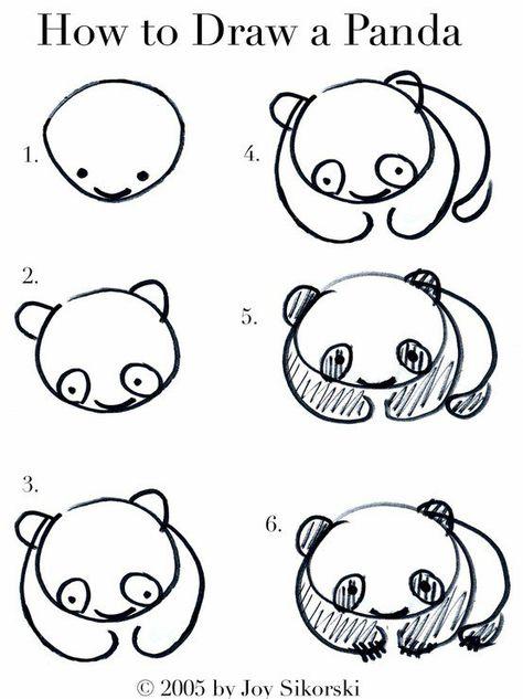 Comment Dessiner Un Panda Kawai Drawing Art çizimler