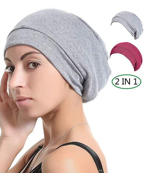Visor Cap for Women Stylish Lightweight Cotton Bonnet Women Hair Cover Cap