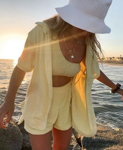 TEEK - Vel Veach Two Piece Sets | Variety - Shirts and Shorts Yellow / L
