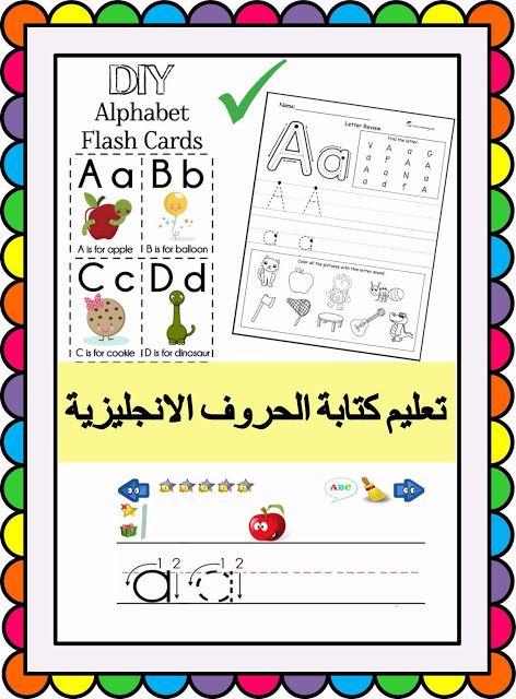 مدونة الحضانة خطوات تعليم كتابة الحروف الانجليزية بطريقة سهلة Flashcards Blog Cards