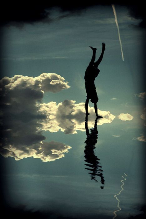 Handstand among the clouds!