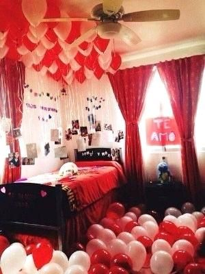 Party Room Decoration Ideas Aulamaestra Co Birthday Surprises For Her Birthday Room Surprise Romantic Valentines Day Ideas