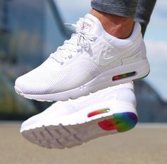 The Nike Air Max Zero 'Be True' in all its rainbow glory, want these soo  bad… Nike roshe run shoes for women ...