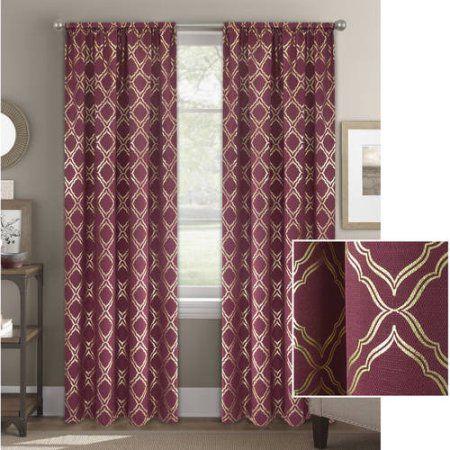 284e675b712cf1818096b301b088f7b5 - Better Homes & Gardens Metallic Foil Trellis Curtain Panel