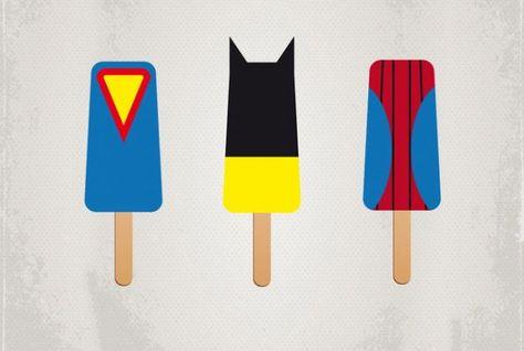 Picolé de super heróis... :)    crackle.com.br