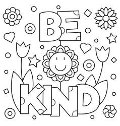 Choose Kindness Coloring Page Royalty Free Vector Image Coloring