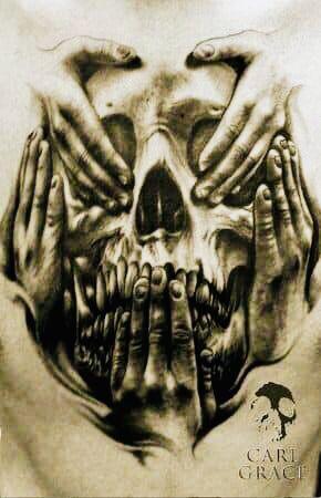 See No Evil Speak No Evil Hear No Evil Gangster Tattoos Skull Tattoo Design Small Tattoos For Guys