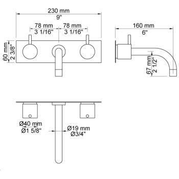 Vola 1513k Image 5 Faucet Image Floor Plans