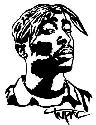 Tupac Shakur Vinyl Decal Sticker Bumper Wall Car 2pac Makaveli Hip Hop Rap In 2021 Hip Hop Art Tupac Art Silhouette Art