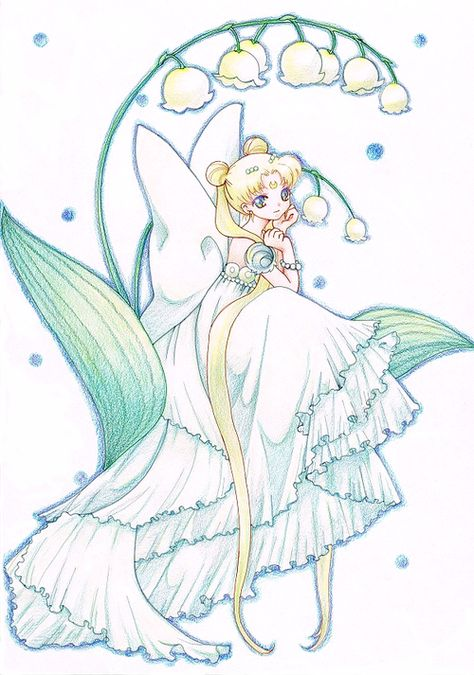 Beautiful Princess Serenity fanart // if you know where this came from, please help me give credit where it's due