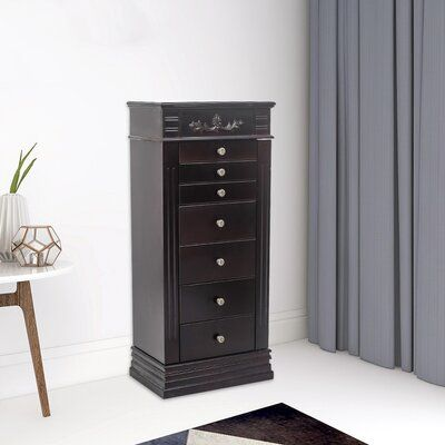 Canora Grey Willer Jewelry Armoire With Mirror Jewelry Armoire Darby Home Co Standing Jewelry Armoire