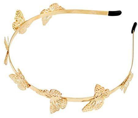 Amazon Com Lurrose Metal Headbands Butterfly Crown Headband